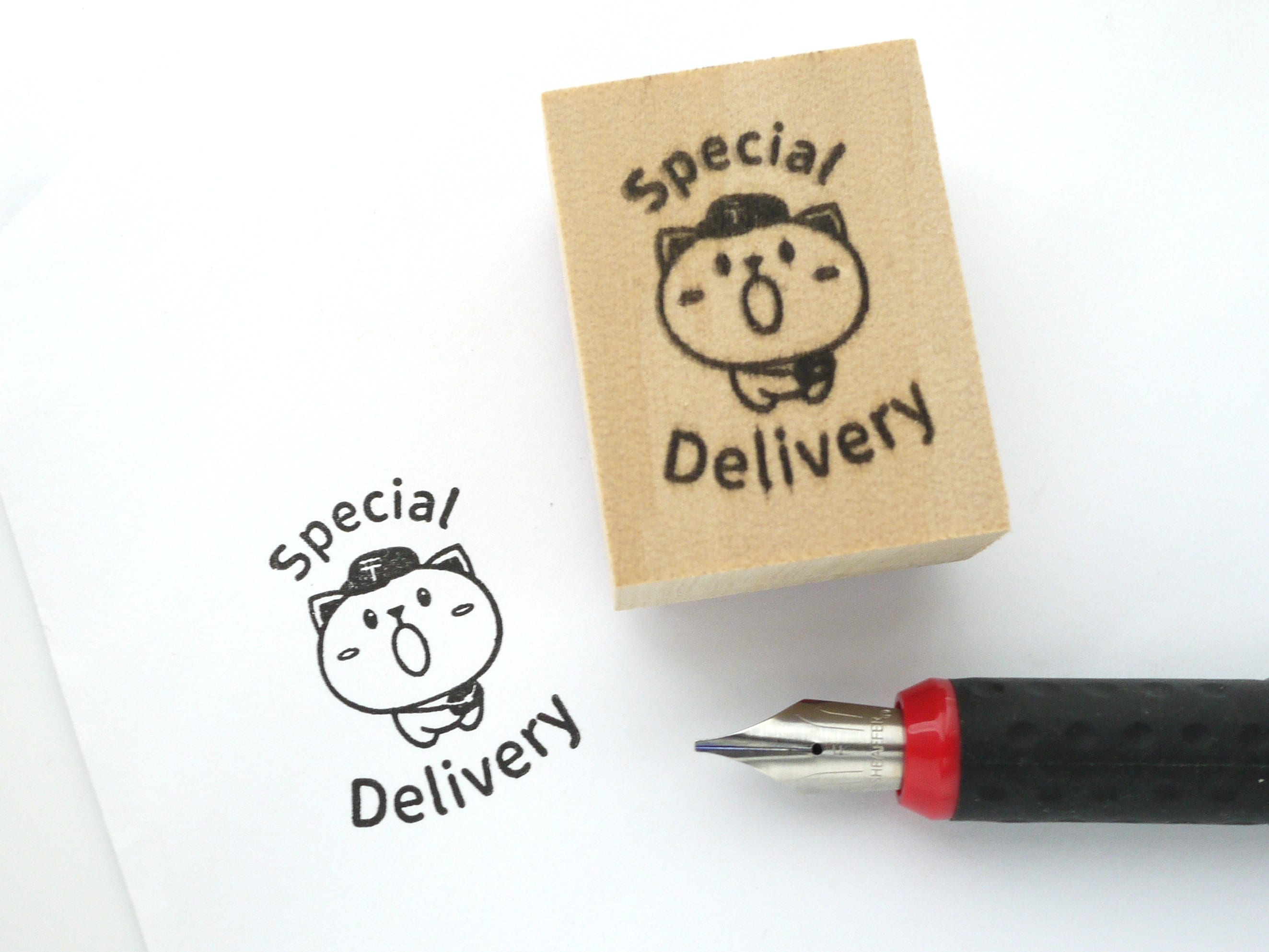5e3f983385d8 Special delivery stamp, Postman cat, Snail mail lover