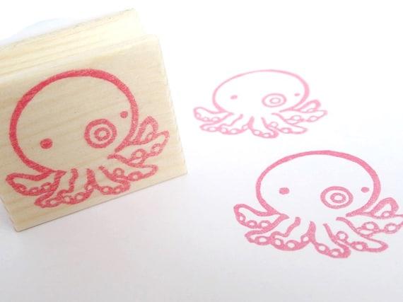 Octopus Stamp Kawaii Stationery Beach Wedding Japanese