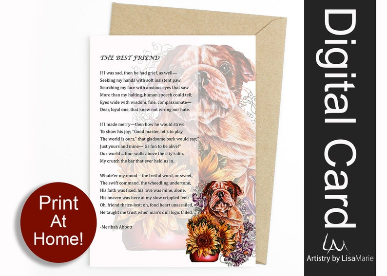 picture regarding My Dog is Home Alone Card Printable titled Electronic Greeting Card, Dog Pet Printable Playing cards, Electronic Obtain Do it yourself Items