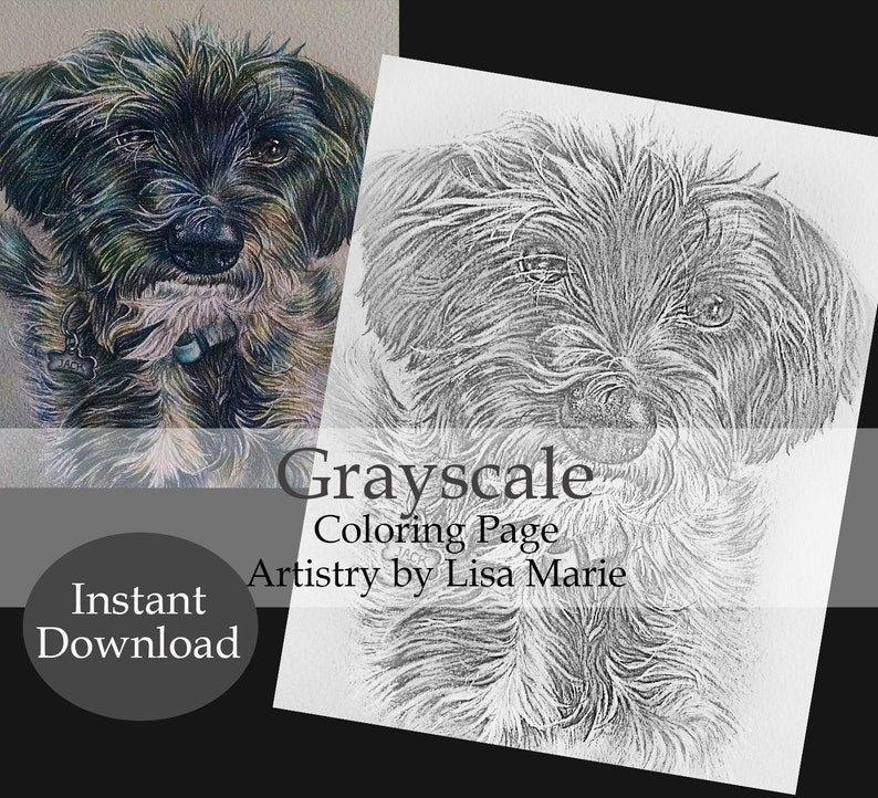 Kleurplaten Mijn Huis.Hond Kleurplaat Download Afdrukbare Kleurplaat Coloring Etsy