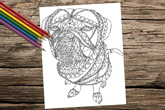 Para imprimir la página para colorear para adultos páginas | Etsy