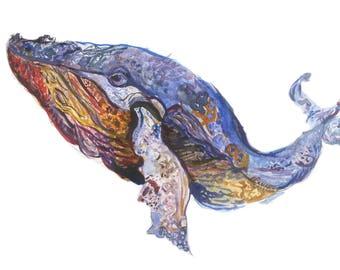 Fine Art Whale Print