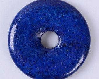 g3559.2 40mm Lapis donut focal pendant bead