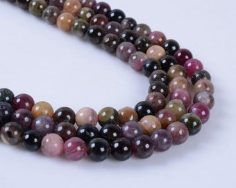"4MM314 4mm Tourmaline round ball loose gemstone beads 16"""