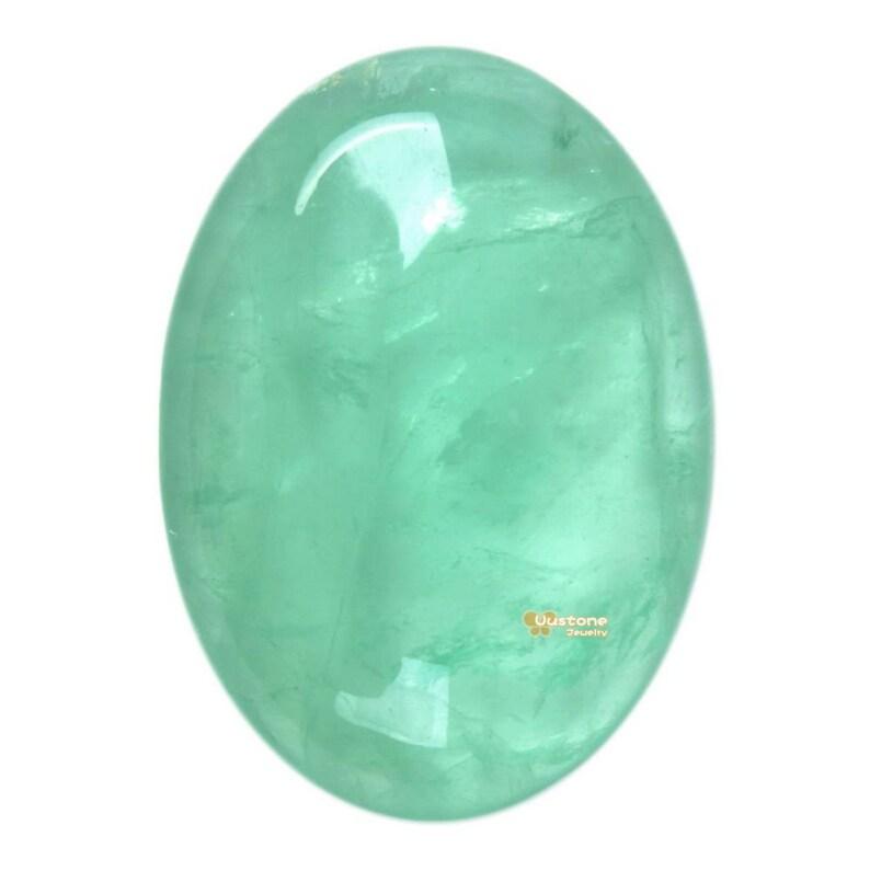 25mm Green fluorite oval flatback cab cabochon