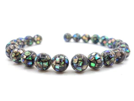 """Forma de estrella 10mm natural Abalone shell piedras preciosas perlas de fabricación de joyería Strand 15/"""""""