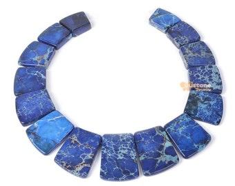 """g1995.10 Blue sea sediment jasper graduated loose beads pendant beads set 13"""""""