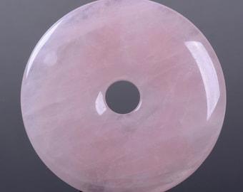 g2721.6 50mm Rose quartz donut focal pendant bead
