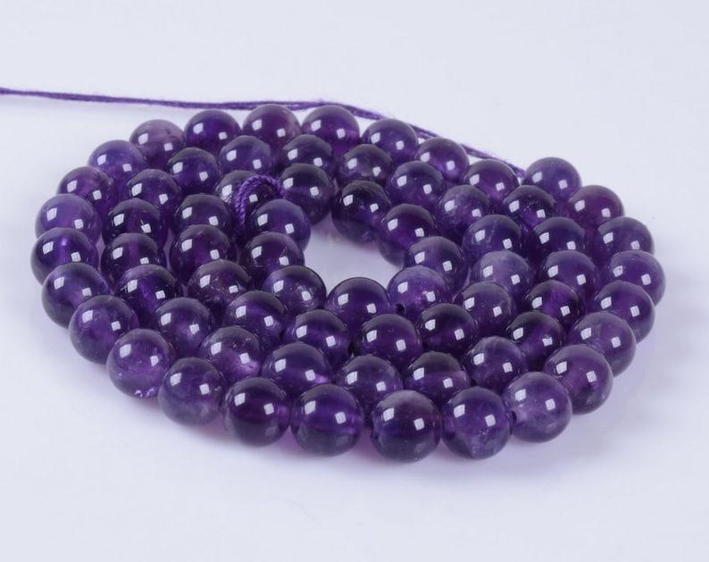 6mm Amethyst round ball loose gemstone beads 16