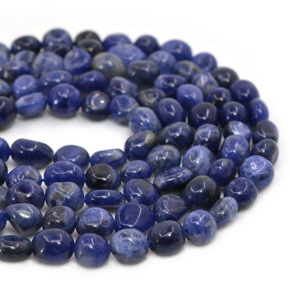 0563 clats sodalite galets en vrac perles de pierre gemme. Black Bedroom Furniture Sets. Home Design Ideas