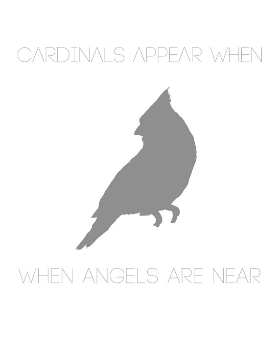 Cardinals Appear When Angels Are Near Png Pdf Jpeg Files Etsy