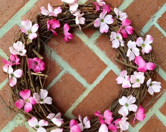 Pink Dogwood Wreath