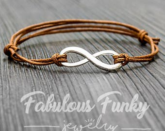 Infinite bracelet-brown/