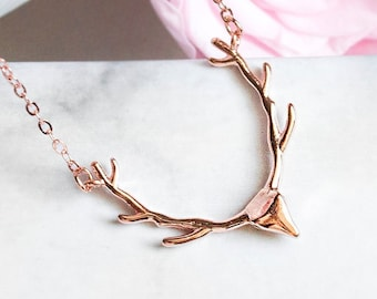 Rose Golden Deer - Necklace