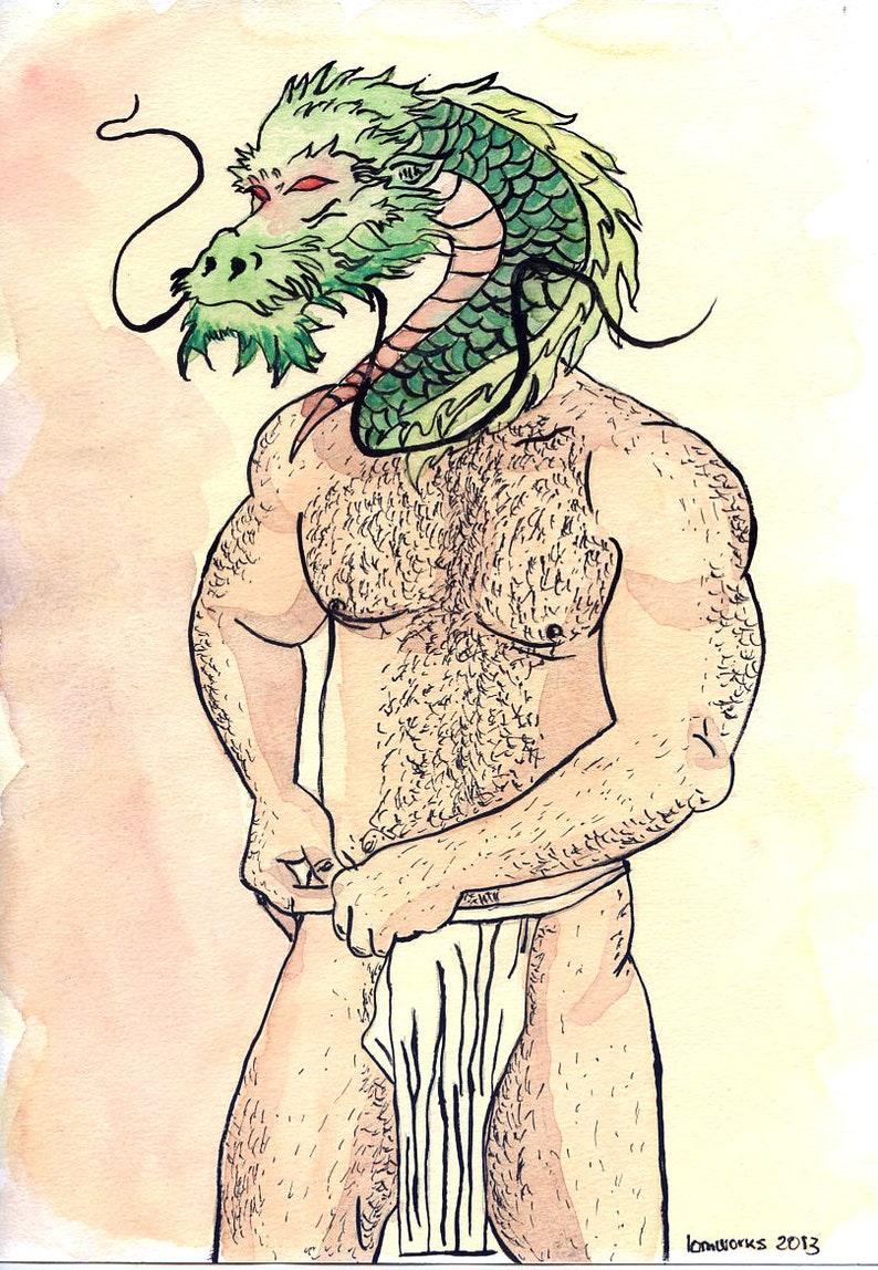 Gay Drawing Ryu Etsy