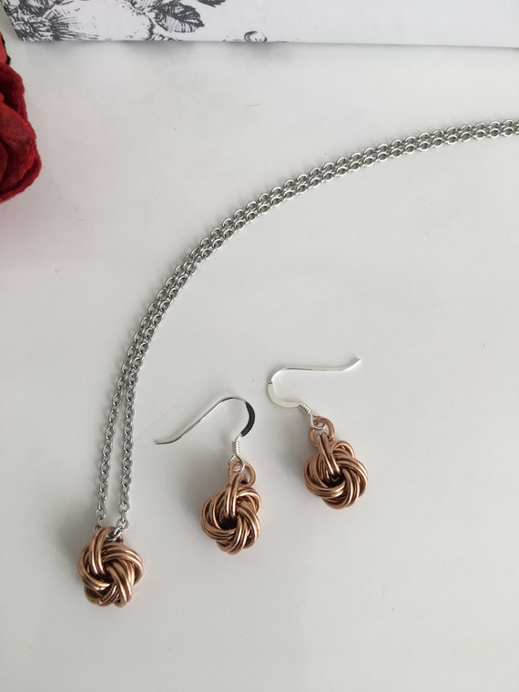 Handmade Jewelry Earrings Gift for Her Chainmail Blue Best Friend Gift Dangle Earrings Girlfriend Gift Chain Earrings