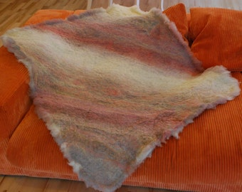 SALE!  Felted hand made wool rug Picking Cranberries