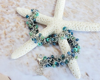 Caribbean Dream Shaggy Loops Chainmaille Bracelet