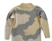 Vintage Sweater Medium Crewneck Wool Top 80 39 s, 90 39 s Fashion