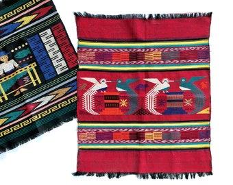 Vintage Woven Art | Bird Tapestry/Wall Hanging | Boho Home Decor