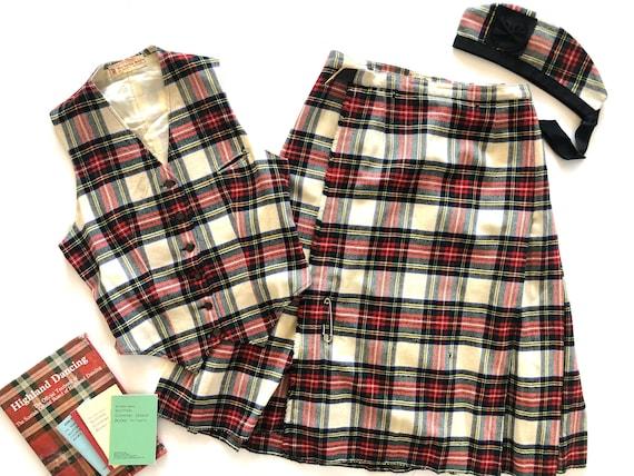 Vintage Scottish Outfit | Kilt, Weskit, Glengarry