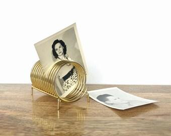 Vintage Organizer | Brass Spring Desk Holder | Mail/Letter Divider | Home, Office, Desk Decor