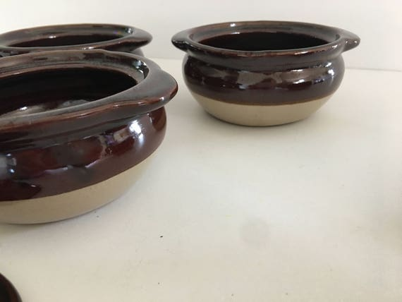 Pot vintage set pots de 4 mini haricot cuit au four cuisine ustensiles de cuisine - Pot a ustensiles cuisine ...