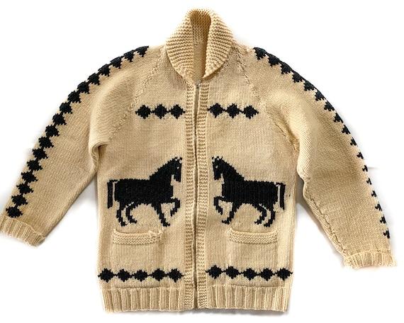 Vintage Sweater | Large Horse Sweater | Unisex Ove
