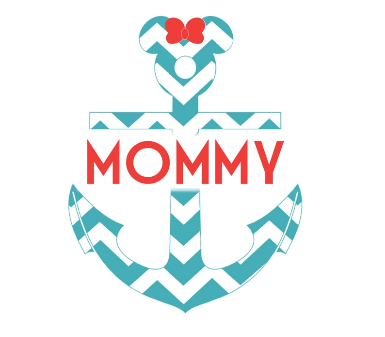 image relating to Mickey Anchor Printable known as PRINTABLE Disney Cruise Nautical Mickey Anchor Mommy Magnet or Iron-Upon JPEG