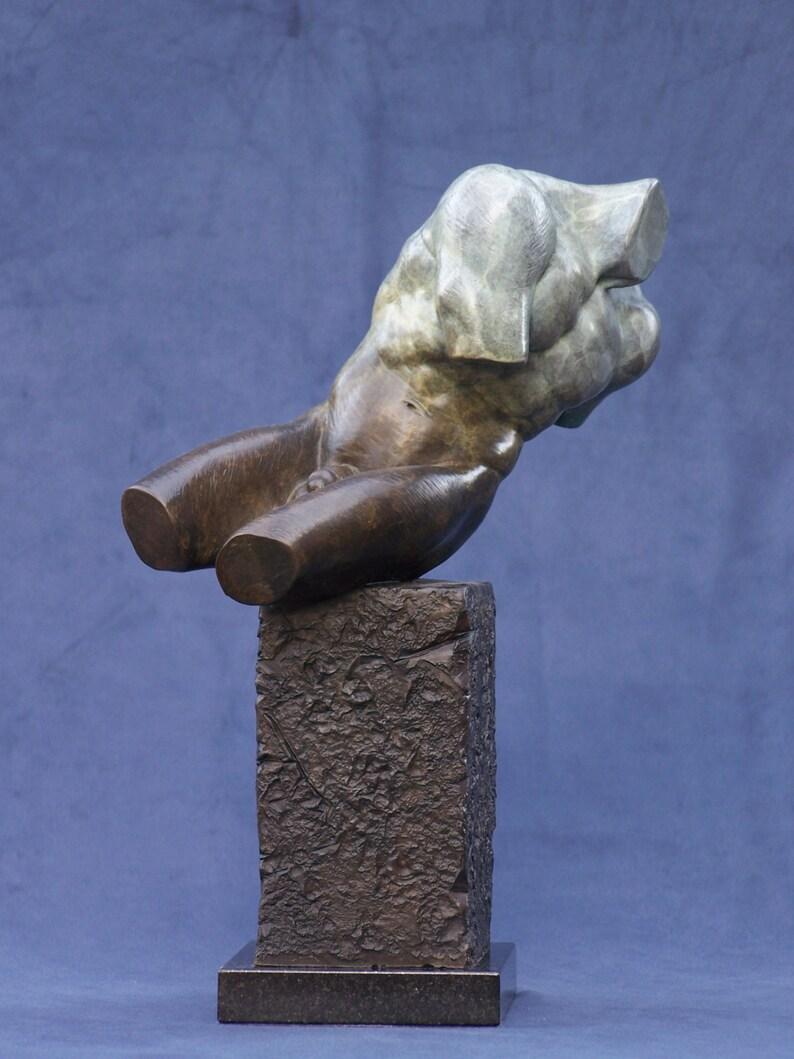Male Torso Fragment Sculpture. Cast Bronze. image 0