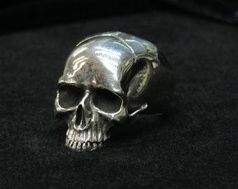 Skull Ring, Sterling Silver Finish