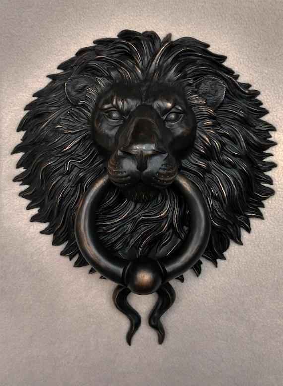 Large Bronze Lion Head Door Knocker / Pull | Etsy