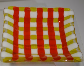 Fused glass plate/bowl