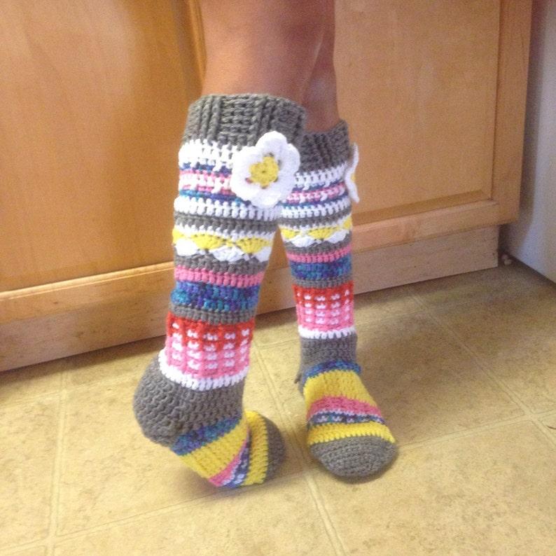 Knee high flower socks