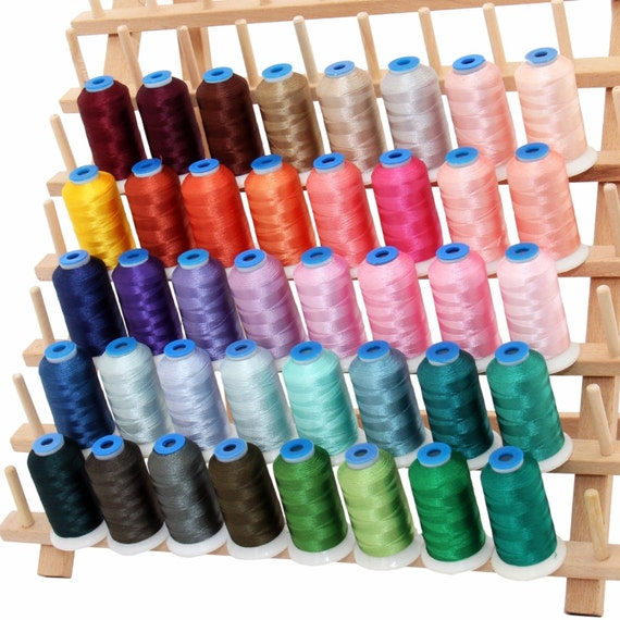 RAYON MACHINE EMBROIDERY THREAD SET 20 PINK /& BLUE COLORS 40WT 1000M CONES