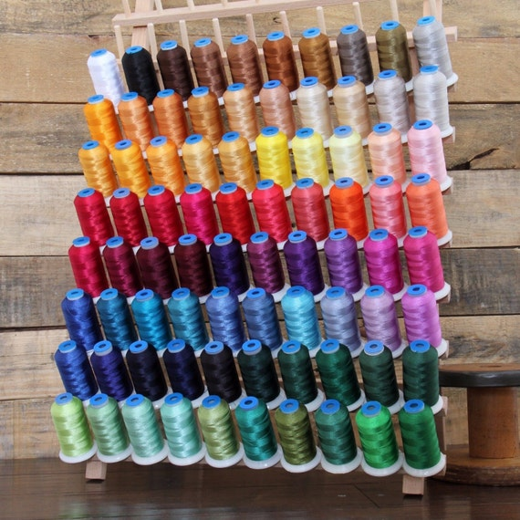 40 COLORS BIG 1000M CONES 40WT RAYON MACHINE EMBROIDERY