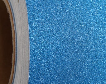 "Glitter Blue Self Adhesive Sign Vinyl Film 12"" wide - By The Yard"