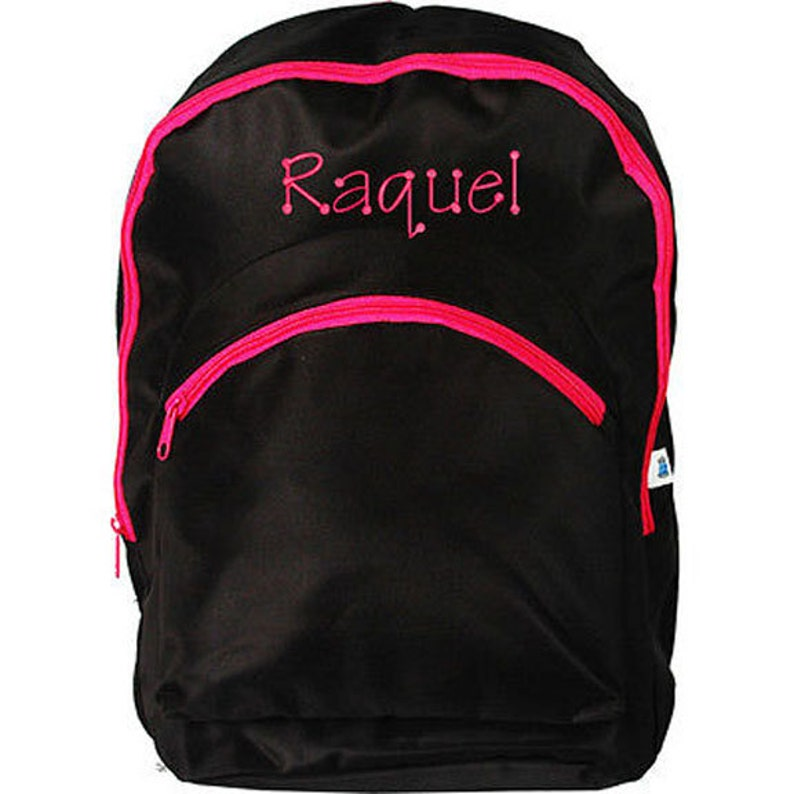 4a969d48f72c Personalized Kids Girl School Bag Zebra Large Backpack Monogram Name  Embroidery