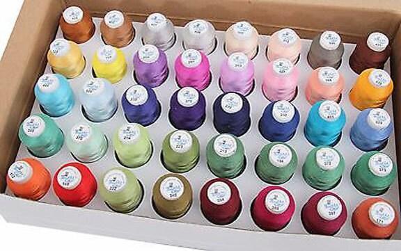 Machine de Embroidery Thread - Set C des bobines de Machine cônes Polyester 500 mètre nouveau - Threadart ecc663