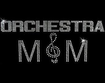 Rhinestone Transfer - Hot Fix Motif - Orchestra Mom