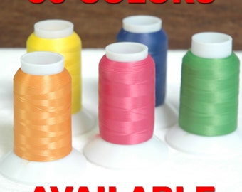 Wooly Nylon Thread Serger Stretchy 1000 Meters Per Cone Woolly 50 Colors Available - Threadart