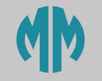 two letter circle monogram circle monogram circle decal yeti monogram car monogram large car decal macbook decal laptop decal