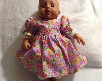 """15"""" doll clothes  dress and panties"""