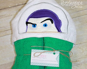 Toy Story Inspired Hooded Towel, Kids Hooded Towel, Buzz Hooded Towel, Superhero Hooded Towel, Superhero Towel, Buzz Lightyear, Buzz Towel