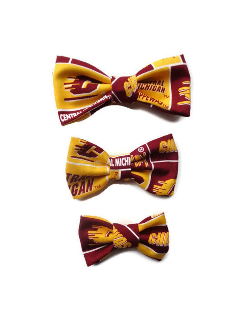 Central Michigan University Dog Bow Tie