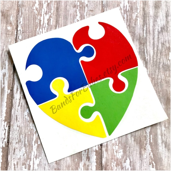 Different Not Less Autism Puzzle Pieces Circle Bumper Window Sticker