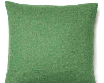 Harris Tweed Cushion ~ Harris Tweed Pillow ~ Green Harris Tweed ~ Tweed Cushion ~ Green Cushion ~ Green Pillow