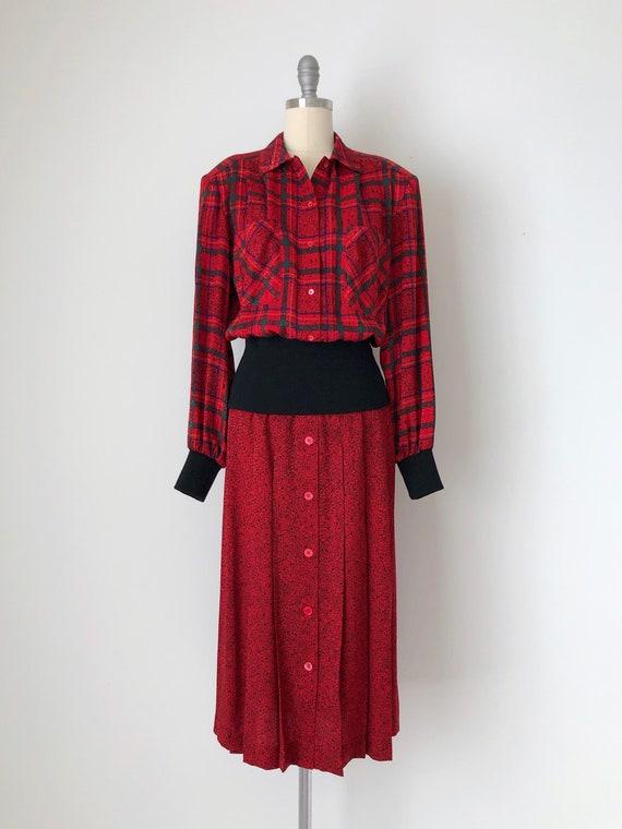Vintage Julie Francis Silk Dress / Vintage 80s Pr… - image 2