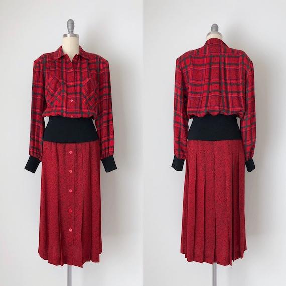 Vintage Julie Francis Silk Dress / Vintage 80s Pr… - image 1