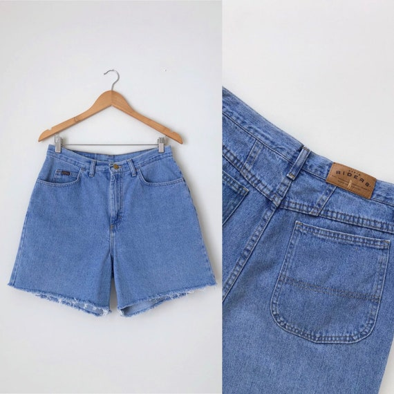 Vintage Denim Shorts / Vintage Light Blue Cotton D